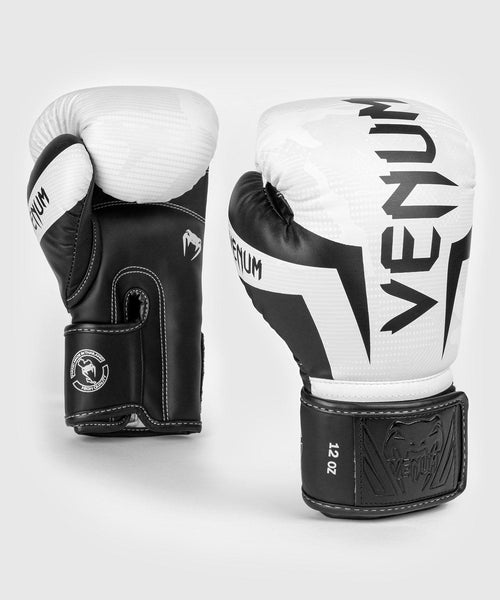 Venum Elite Boxing Gloves – White/Camo picture 1
