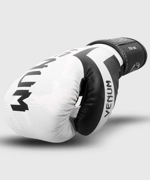 Venum Elite Boxing Gloves – White/Camo picture 2