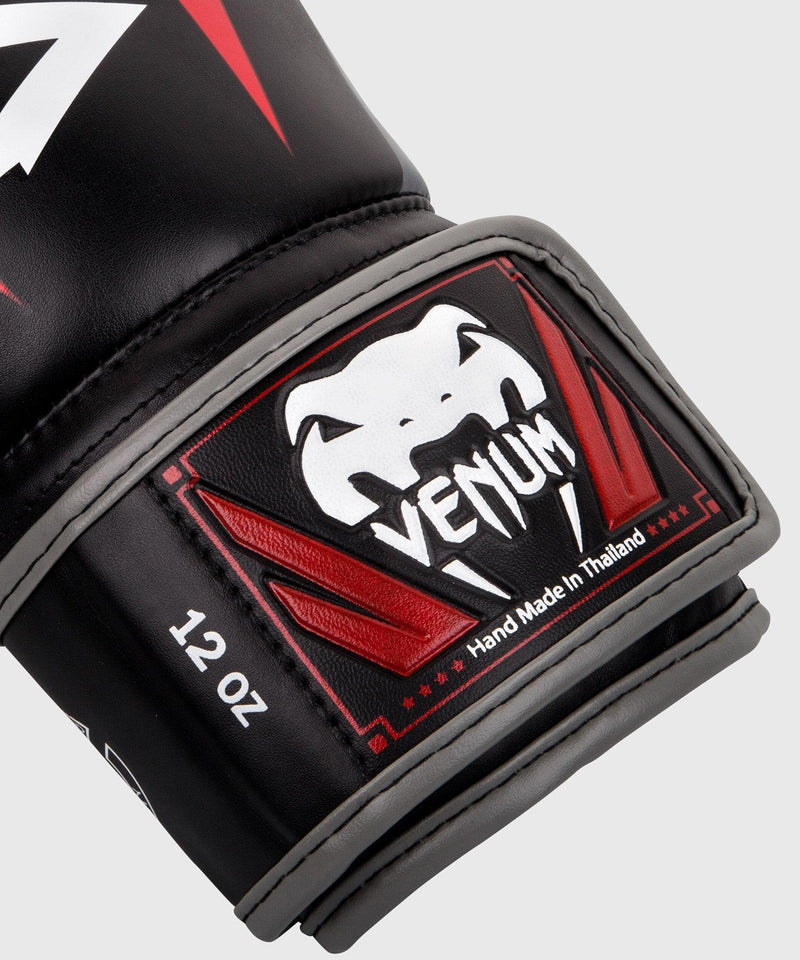 Venum Elite Boxing Gloves - Black/Red/Grey picture 3