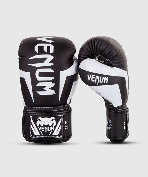 Venum Elite Boxing Gloves – Black/White picture 1