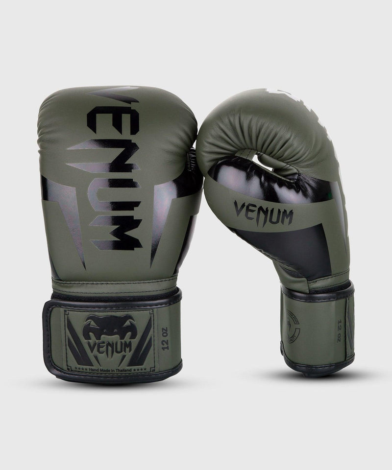 Venum Elite Boxing Gloves – Khaki/Black picture 1