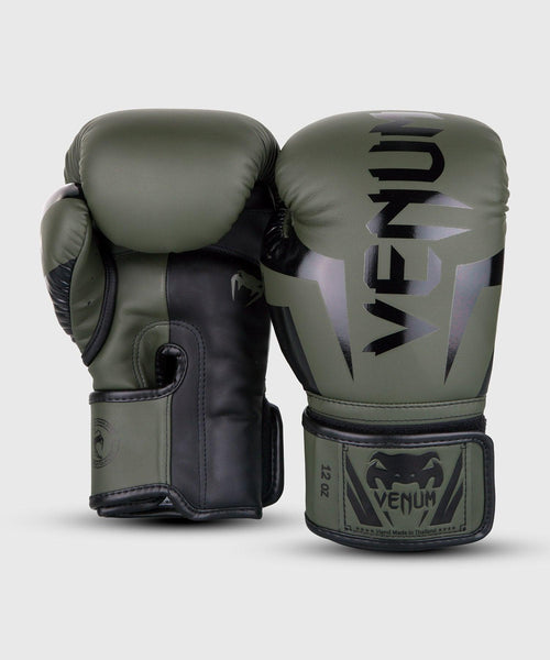 Venum Elite Boxing Gloves – Khaki/Black picture 2