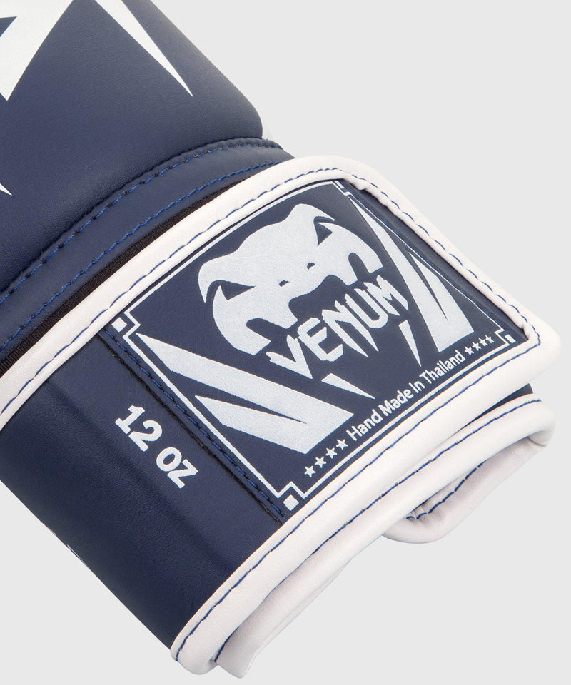 Venum Elite Boxing Gloves - White/Navy Blue picture 6