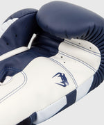 Venum Elite Boxing Gloves - White/Navy Blue picture 4