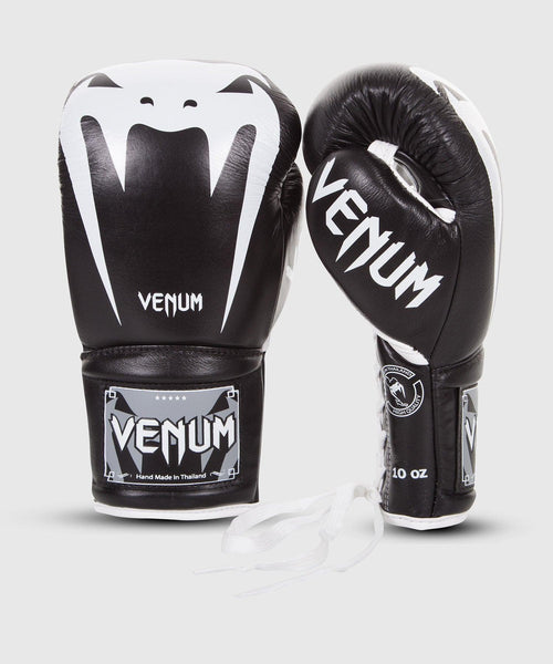 Venum Giant 3.0 Boxing Gloves - Nappa Leather - With Laces – Black picture 1