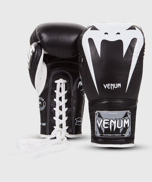 Venum Giant 3.0 Boxing Gloves - Nappa Leather - With Laces – Black picture 2