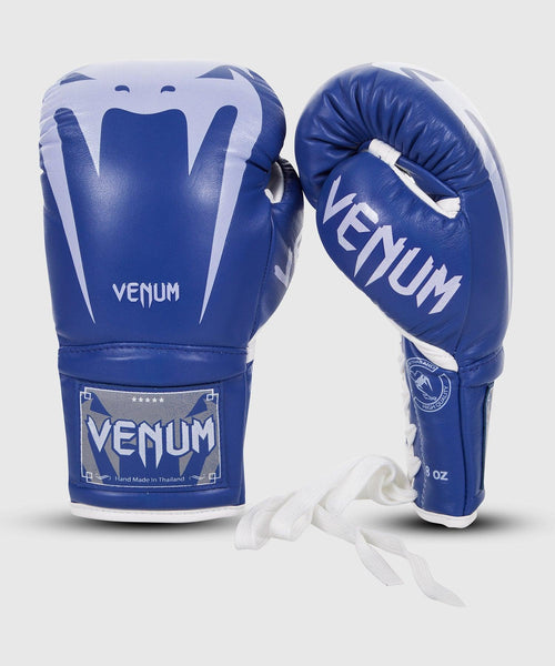 Venum Giant 3.0 Boxing Gloves - Nappa Leather - With Laces – Blue picture 1