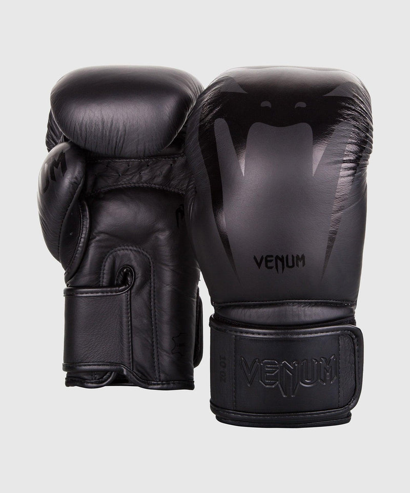 Venum Giant 3.0 Boxing Gloves - Nappa Leather - Black/Black picture 4