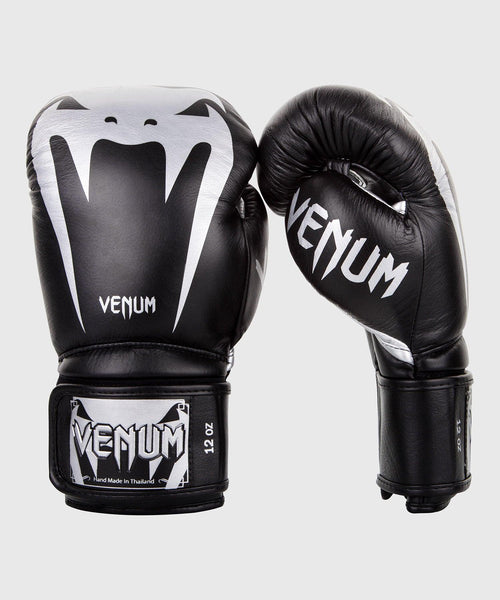 Venum Giant 3.0 Boxing Gloves - Nappa Leather - Black/Silver picture 1