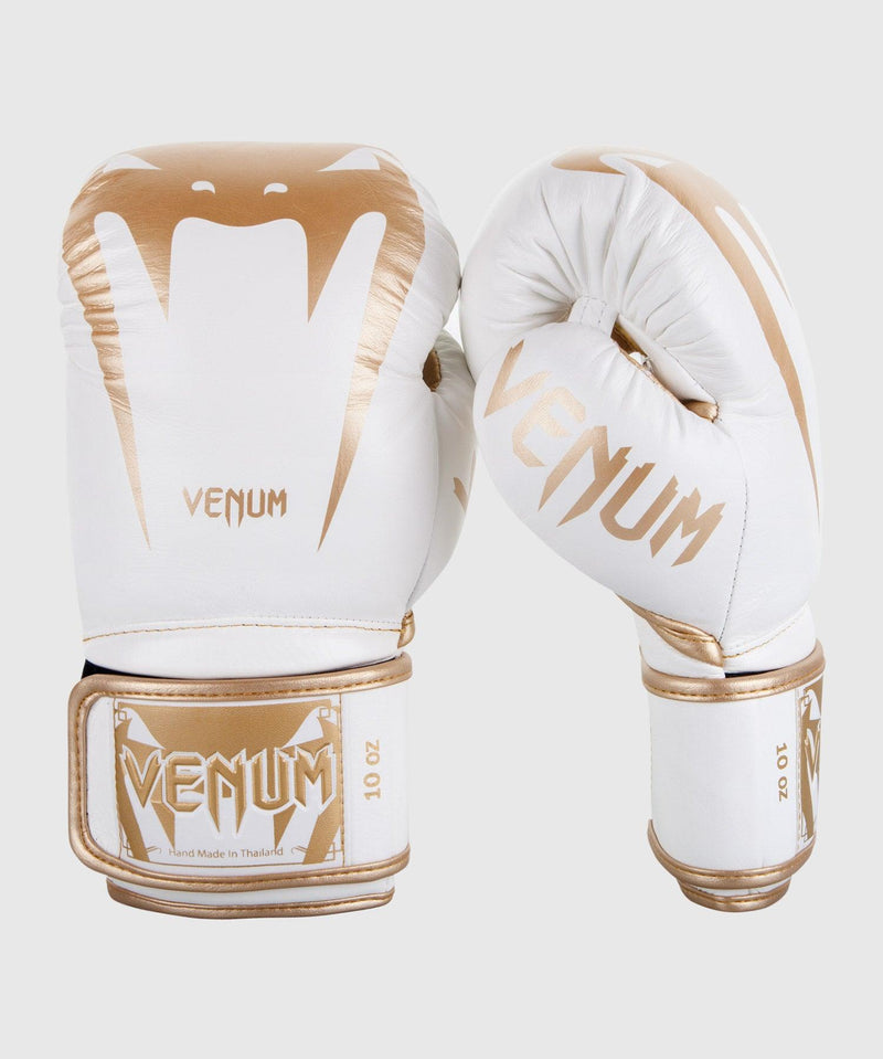 Venum Giant 3.0 Boxing Gloves - Nappa Leather - White/Gold picture 1