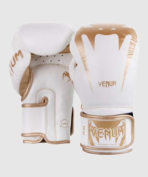 Venum Giant 3.0 Boxing Gloves - Nappa Leather - White/Gold picture 2