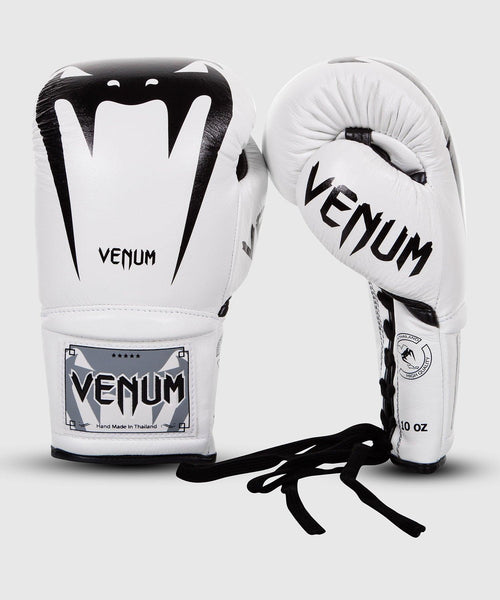 Venum Giant 3.0 Boxing Gloves - Nappa Leather - With Laces – White picture 1