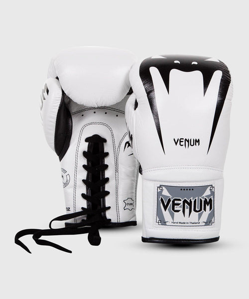 Venum Giant 3.0 Boxing Gloves - Nappa Leather - With Laces – White picture 2