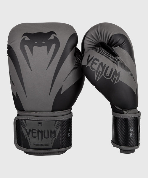 Venum Impact Boxing Gloves - Grey/Black picture 1