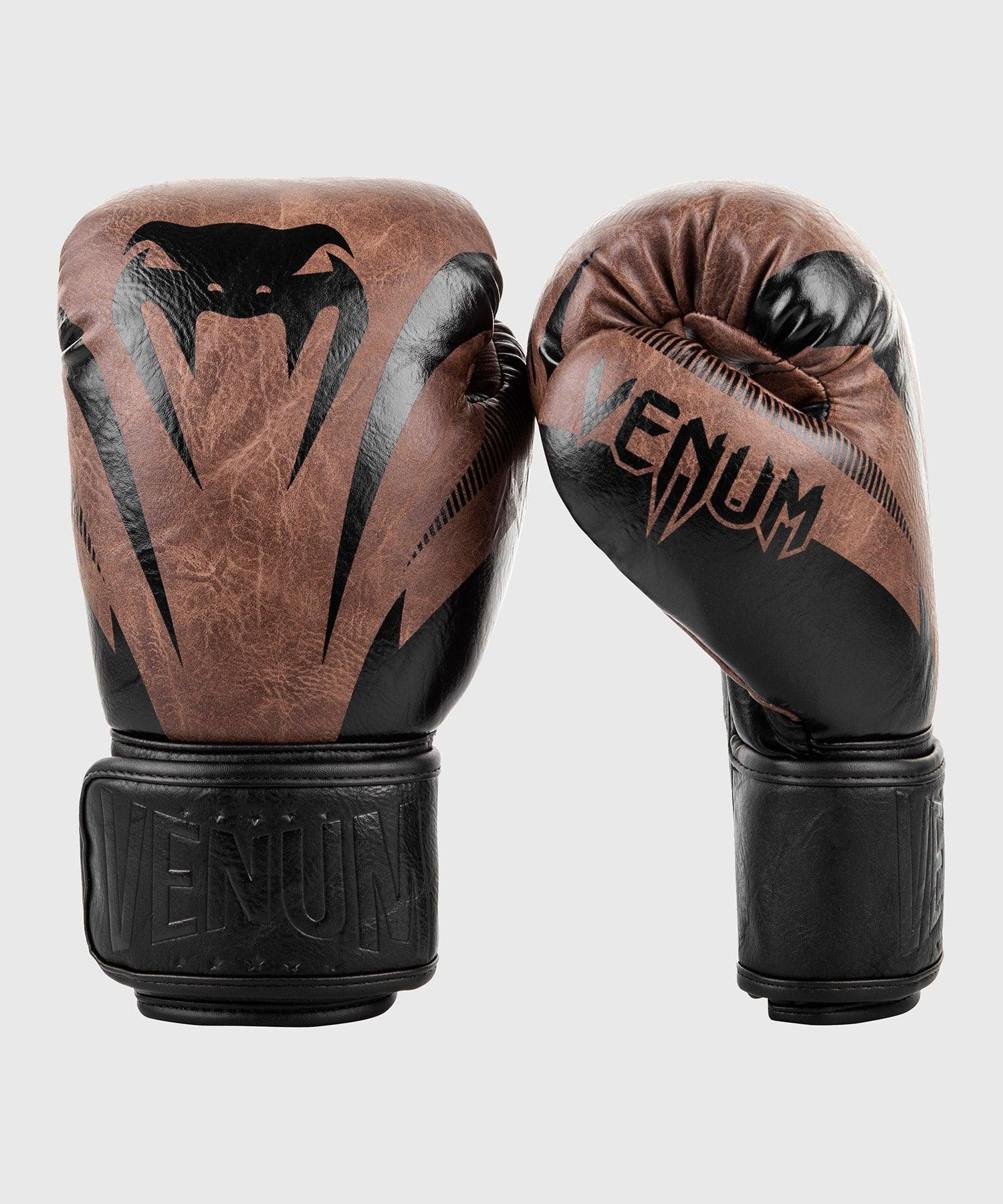Venum Impact Boxing Gloves - Black/Brown picture 1