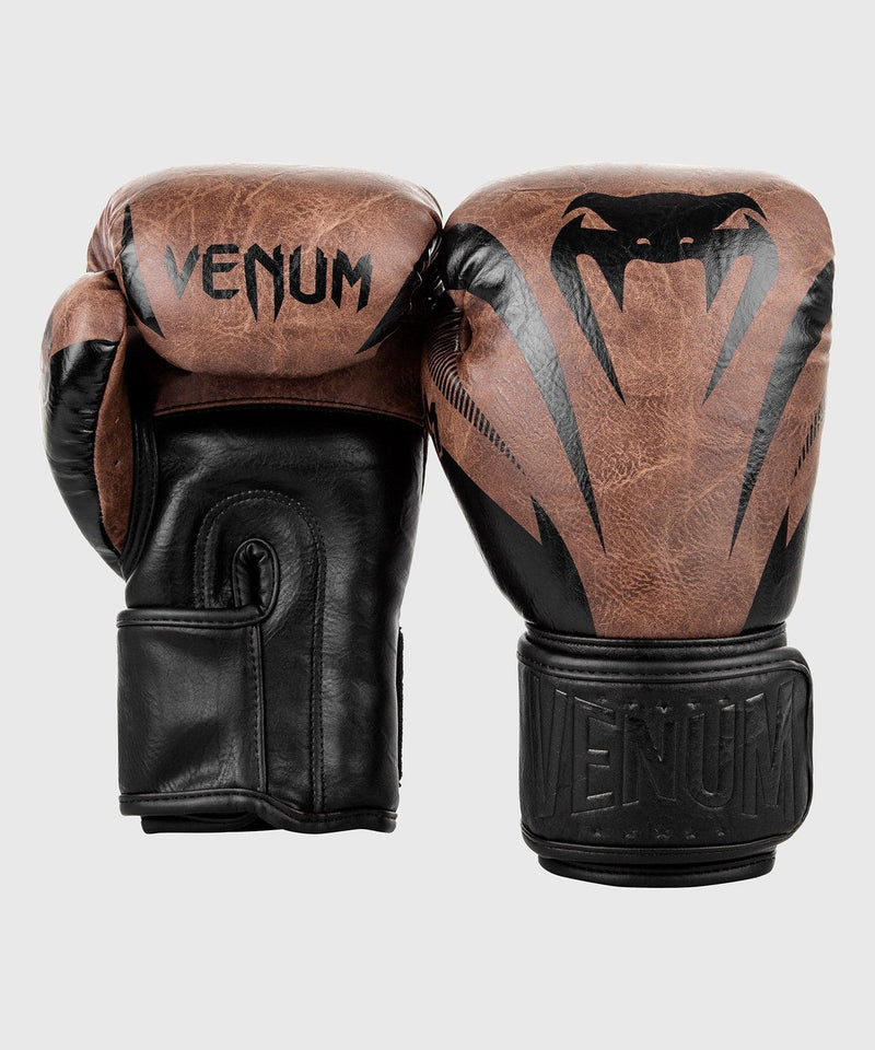 Venum Impact Boxing Gloves - Black/Brown picture 2