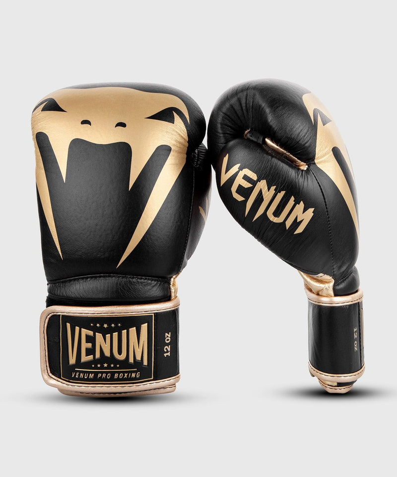 Venum Giant 2.0 Pro Boxing Gloves Velcro - Black/Gold picture 2