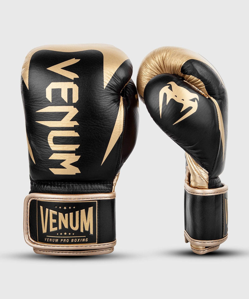 Venum Hammer Pro Boxing Gloves Velcro - Black/Gold picture 2