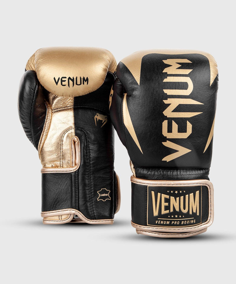 Venum Hammer Pro Boxing Gloves Velcro - Black/Gold picture 3