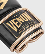 Venum Hammer Pro Boxing Gloves Velcro - Black/Gold picture 7