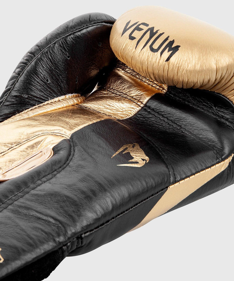 Venum Hammer Pro Boxing Gloves Velcro - Black/Gold picture 5