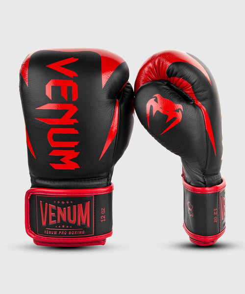 Venum Hammer Pro Boxing Gloves Velcro - Black/Red picture 2