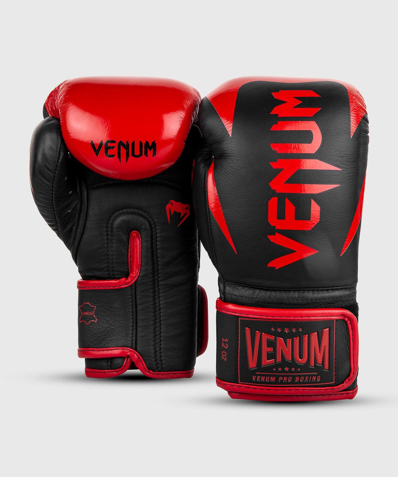 Venum Hammer Pro Boxing Gloves Velcro - Black/Red picture 3