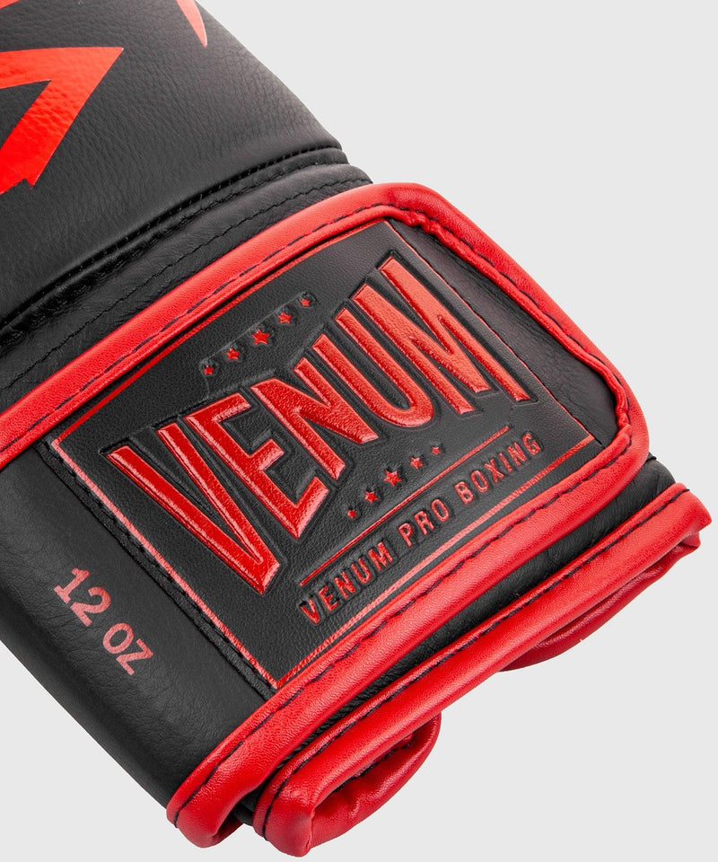 Venum Hammer Pro Boxing Gloves Velcro - Black/Red picture 6