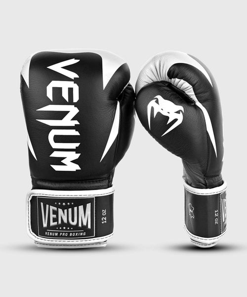 Venum Hammer Pro Boxing Gloves Velcro - Black/White picture 2