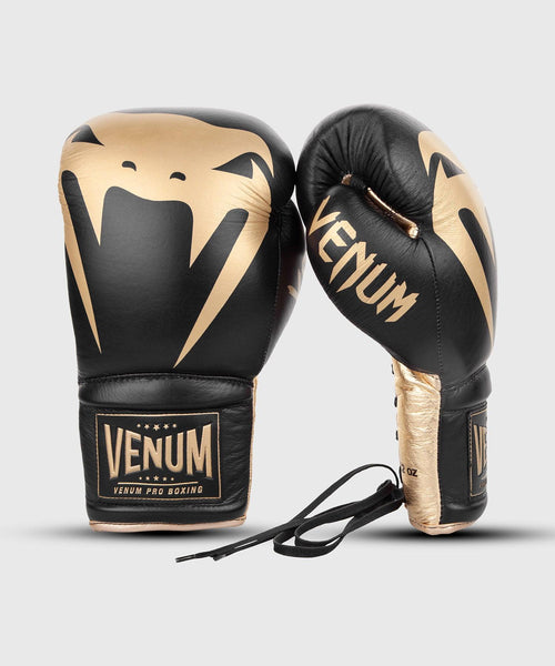 Venum Giant 2.0 Pro Boxing Gloves - With Laces - Black/Gold picture 9