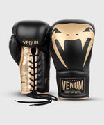 Venum Giant 2.0 Pro Boxing Gloves - With Laces - Black/Gold picture 8