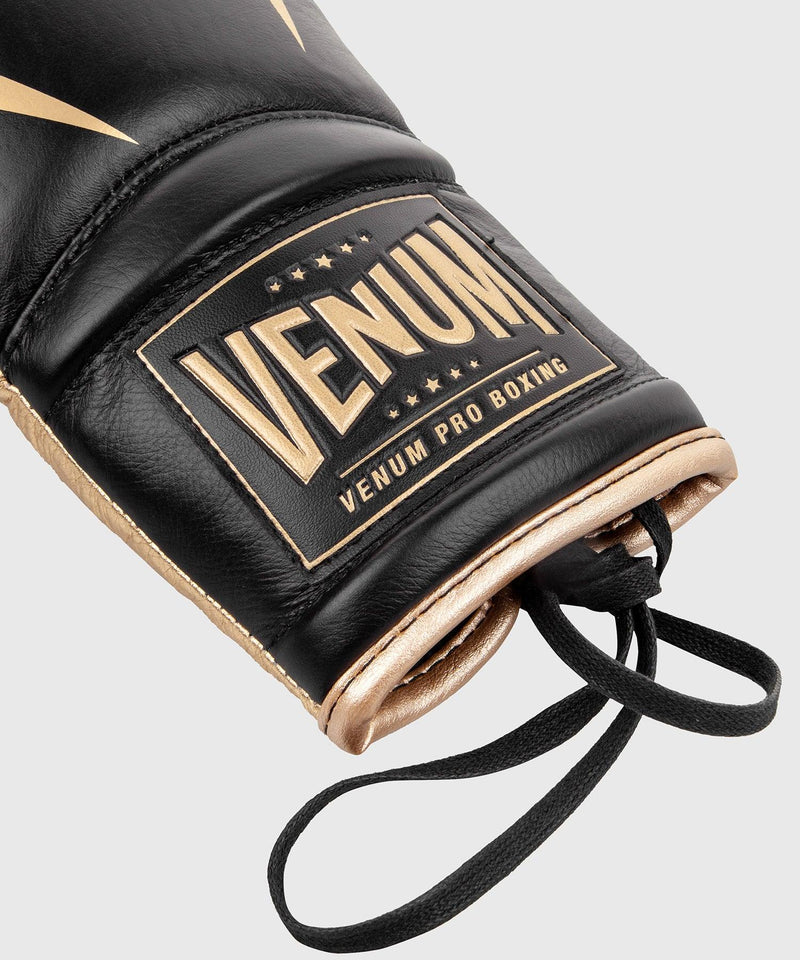 Venum Giant 2.0 Pro Boxing Gloves - With Laces - Black/Gold picture 6