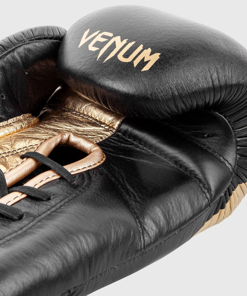 Venum Giant 2.0 Pro Boxing Gloves - With Laces - Black/Gold picture 5