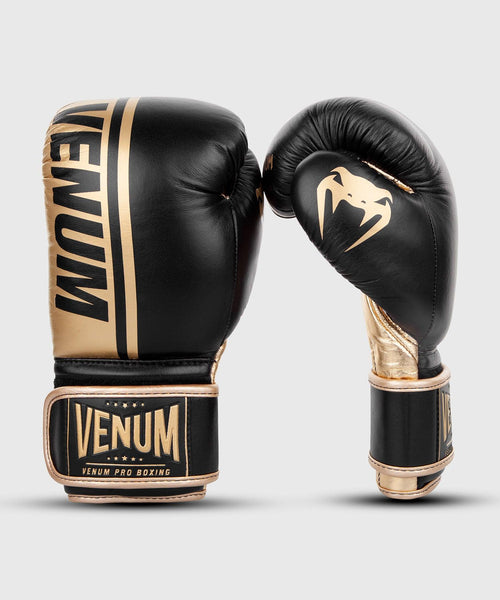 Venum Shield Pro Boxing Gloves Velcro - Black/Gold picture 2