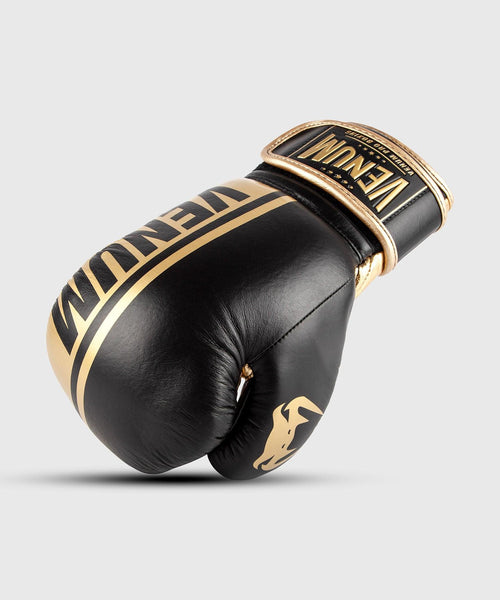 Venum Shield Pro Boxing Gloves Velcro - Black/Gold picture 1