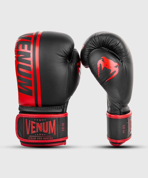 Venum Shield Pro Boxing Gloves Velcro - Black/Red picture 2