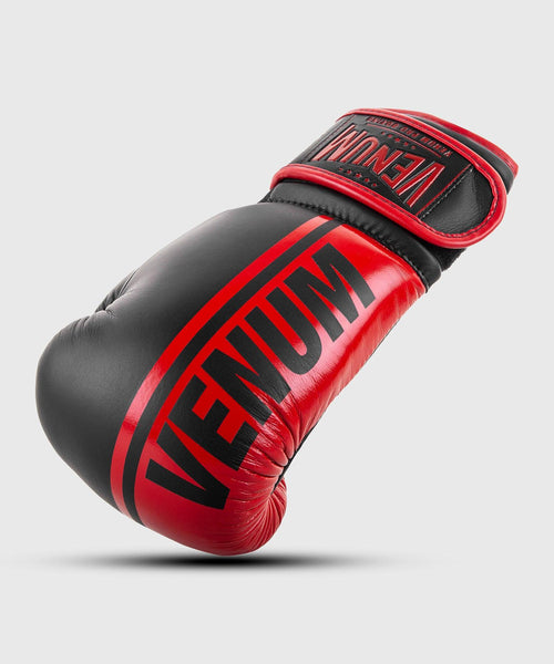 Venum Shield Pro Boxing Gloves Velcro - Black/Red picture 1