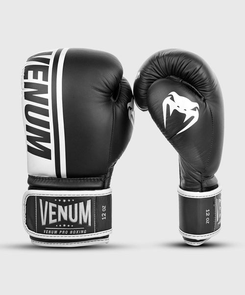Venum Shield Pro Boxing Gloves Velcro - Black/White picture 2