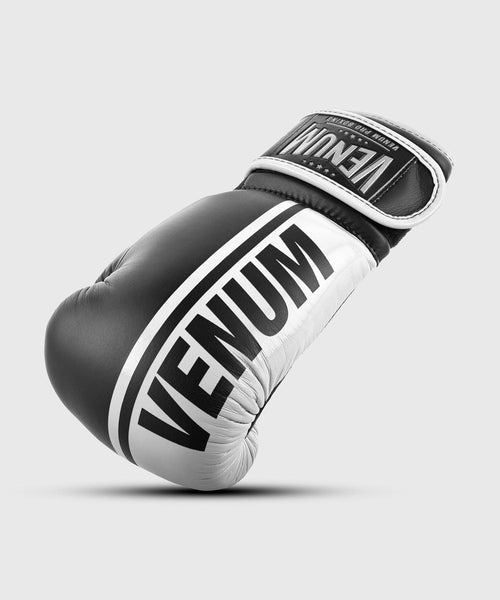 Venum Shield Pro Boxing Gloves Velcro - Black/White picture 1