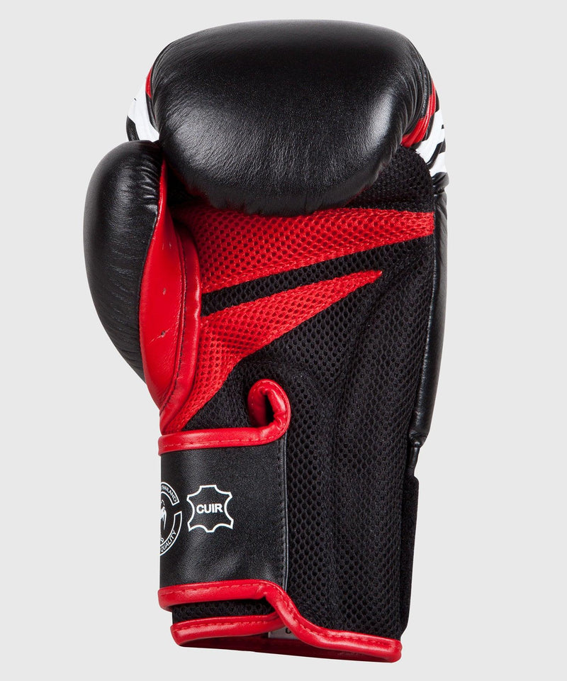 Venum Sharp Boxing Gloves - Black/Ice/Red - Nappa Leather picture 4