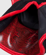 Venum Sharp Boxing Gloves - Black/Ice/Red - Nappa Leather picture 7