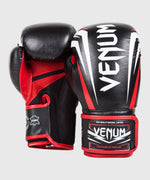 Venum Sharp Boxing Gloves - Black/Ice/Red - Nappa Leather picture 2