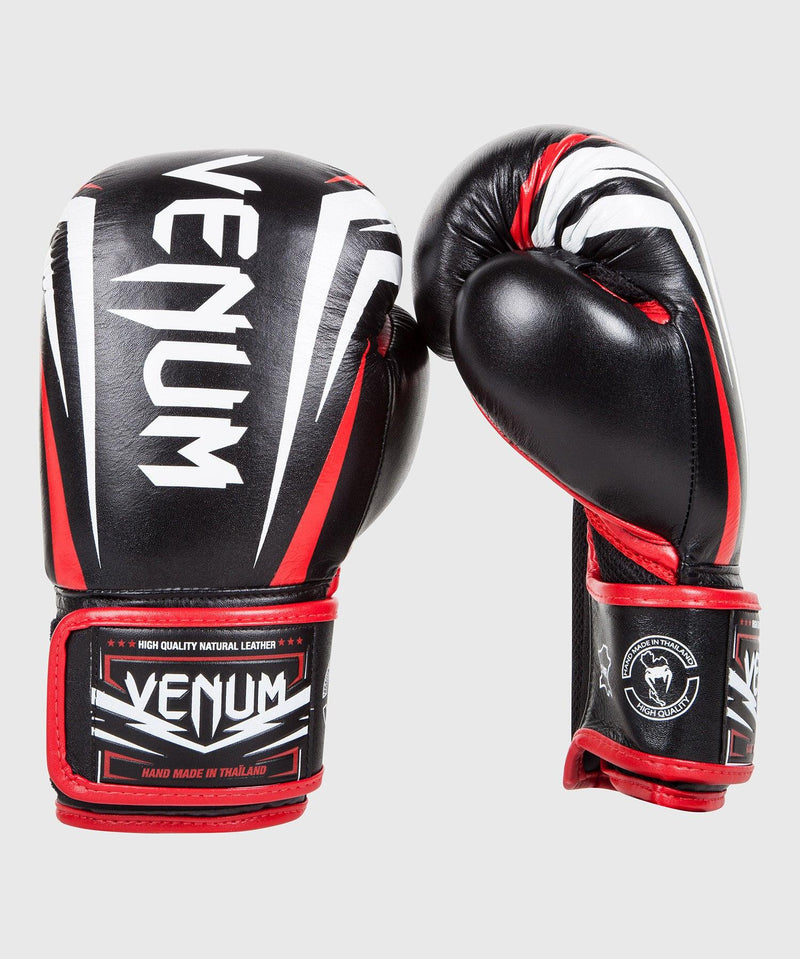 Venum Sharp Boxing Gloves - Black/Ice/Red - Nappa Leather picture 1