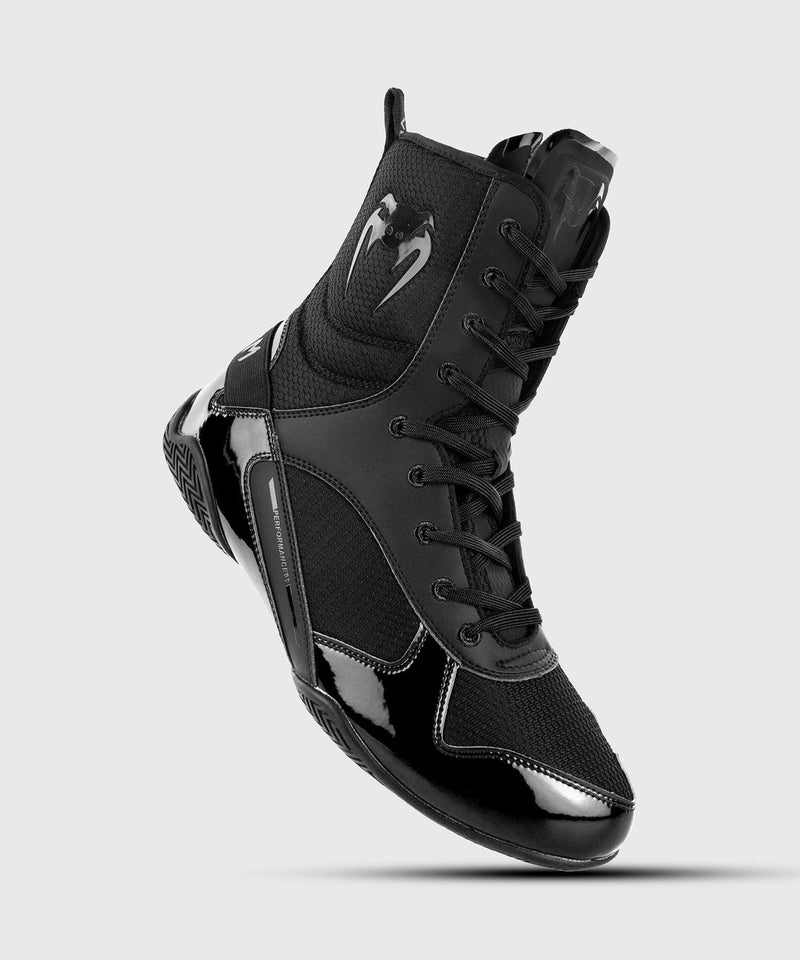 Venum Elite Boxing Shoes - Black/Black picture 1