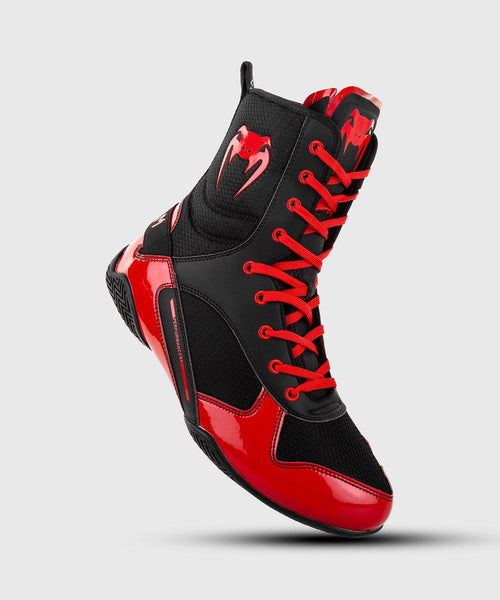 Venum Elite Boxing Shoes - Black/Red picture 1