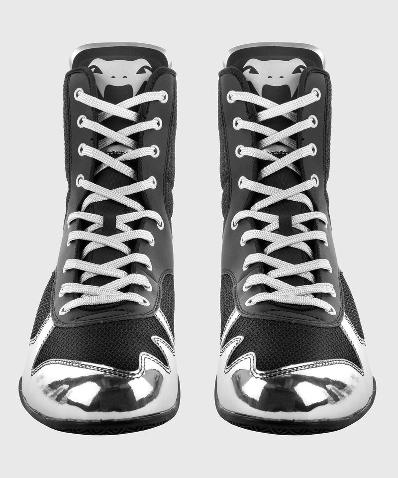 Venum Elite Boxing Shoes - Black/Silver picture 8