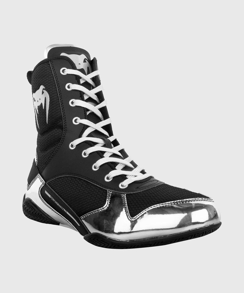 Venum Elite Boxing Shoes - Black/Silver picture 7