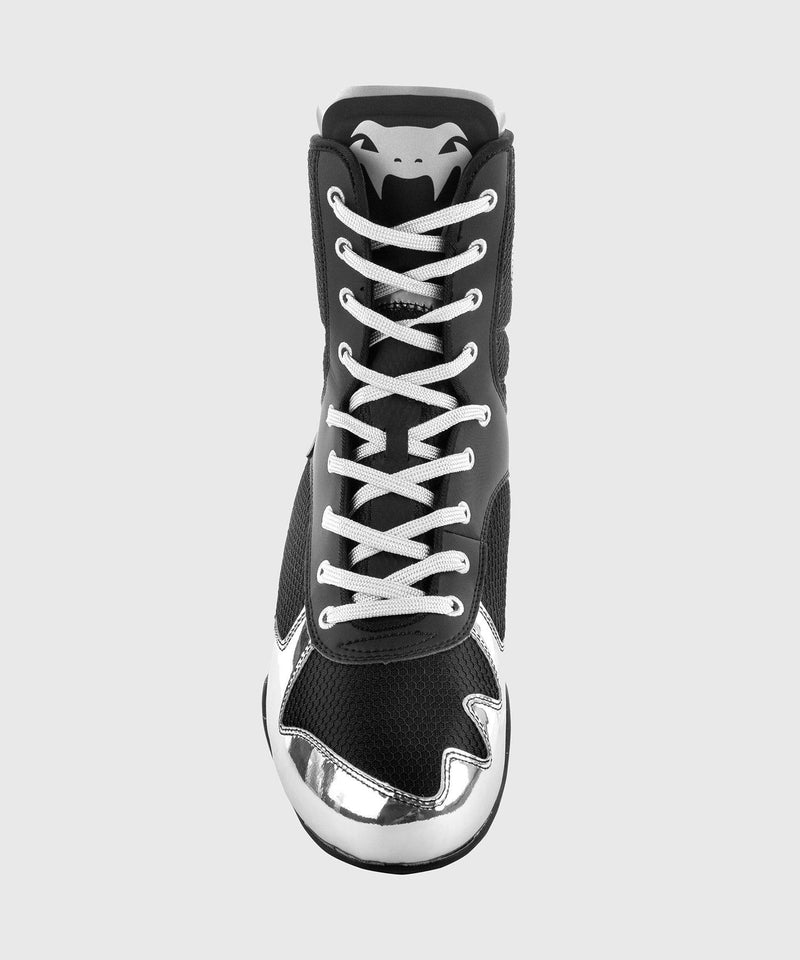 Venum Elite Boxing Shoes - Black/Silver picture 6