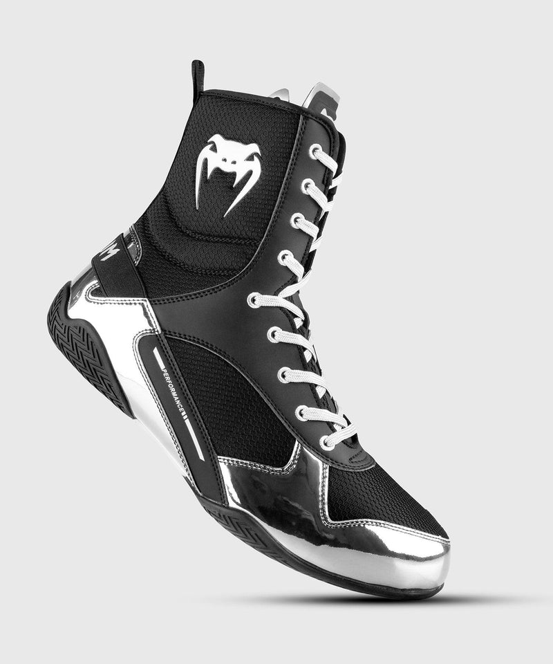 Venum Elite Boxing Shoes - Black/Silver picture 1