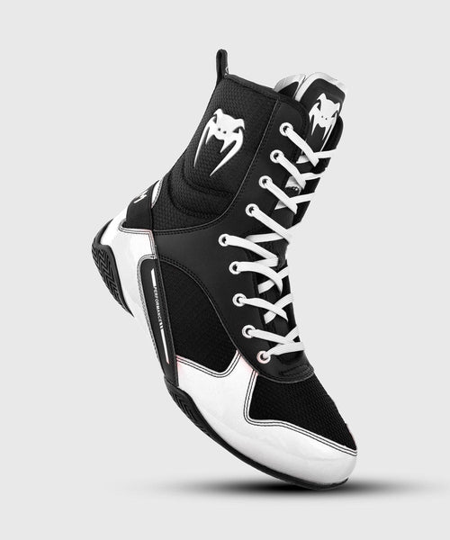 Venum Elite Boxing Shoes - Black/White picture 1